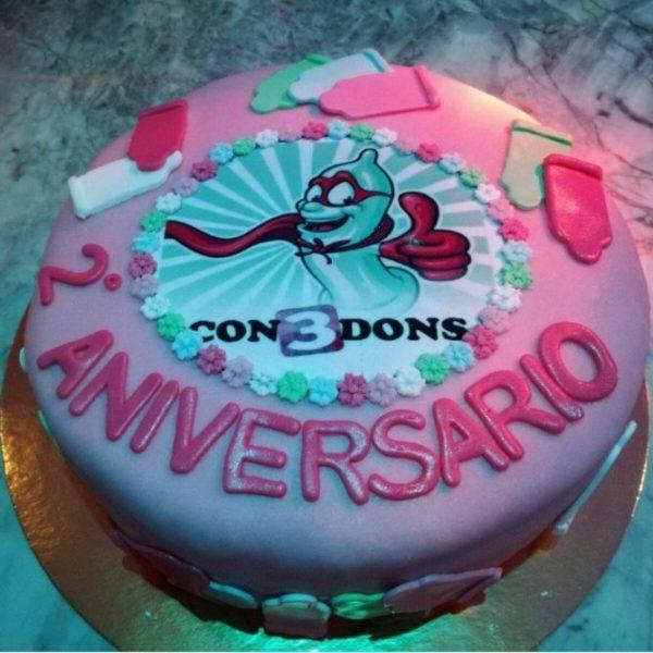 Tarta del 2º Aniversario de 3condons.com