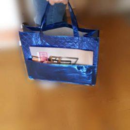 Bolsa Multiusos Brillante con bolsillo exterior