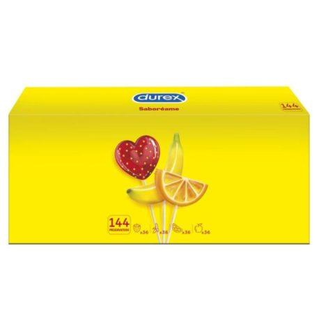dures fruits 144, fresa, naranja y platano.