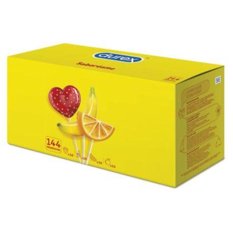 durex fruits 144, fresa, naranja y platano. 2