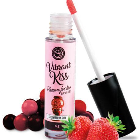 lip gloss fresas vibrante