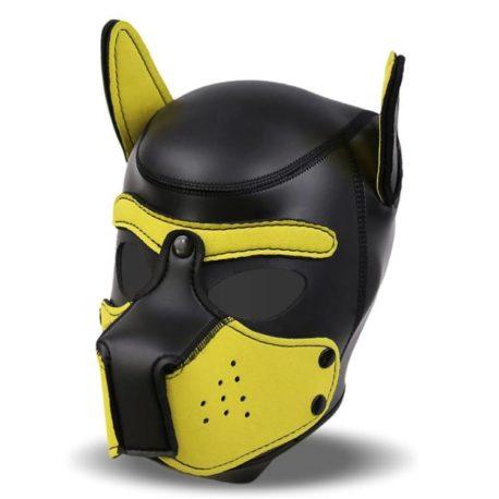 2-hound-mascara-de-perro-de-neopreno-con-hocico-extraible-negro-y-amarillo-talla-l