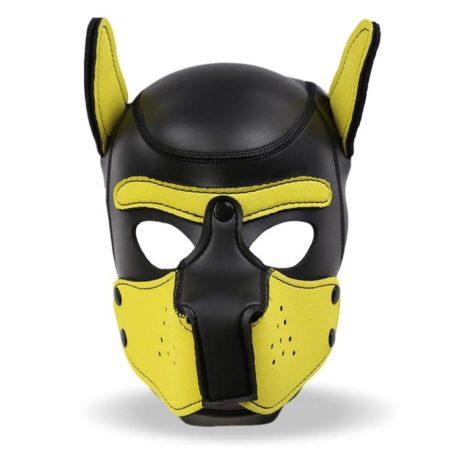 3-hound-mascara-de-perro-de-neopreno-con-hocico-extraible-negro-y-amarillo-talla-l