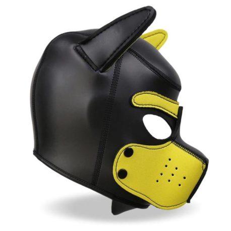 4-hound-mascara-de-perro-de-neopreno-con-hocico-extraible-negro-y-amarillo-talla-l
